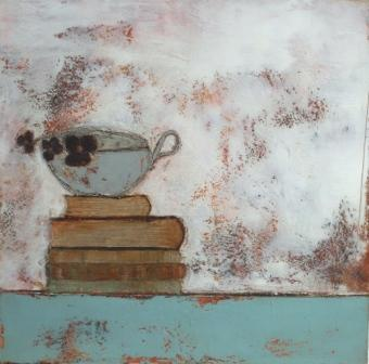 Anji ALLEN - Books,Cup and Flowers