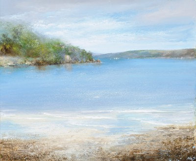 'The Gentle Movement of the Sea is Mesmerizing, Salcombe' painting