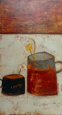 Irish Artist Anji ALLEN - Buttercups and Daisy