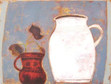 Anji ALLEN - Hellebore and Red Jug