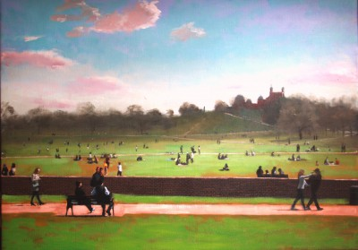 Spring Sunshine, Greenwich Park painting by artist Brian SMYTH