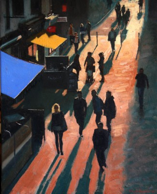 City Centre, Sunset painting by artist Brian SMYTH