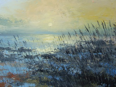 Irish Artist Colin CARRUTHERS - Sunlit Grasses