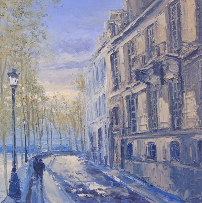 Colin CARRUTHERS - Evening Light, Quai de Bourbon