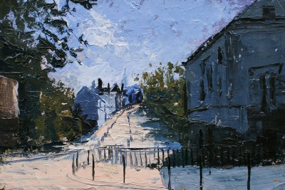 Early Morning, Summer, Montmartre painting by artist Colin CARRUTHERS