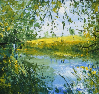 Still Water I painting by artist Colin CARRUTHERS