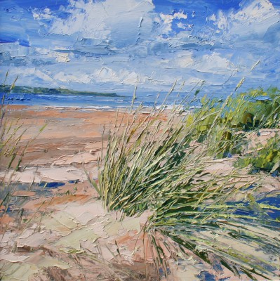 Grasses, West Sands painting by artist Colin CARRUTHERS