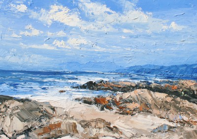 Rocky Shore, Isle of Coll painting by artist Colin CARRUTHERS