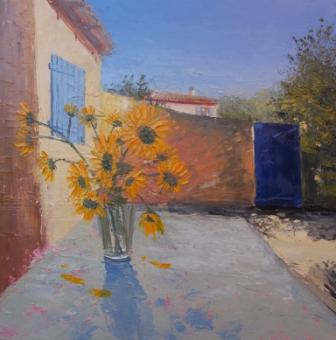 Irish Artist Colin CARRUTHERS - Sunflowers, La Coquille, Arles