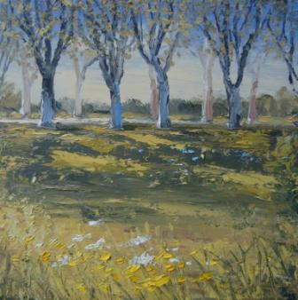 Irish Artist Colin CARRUTHERS - Plane Trees Near Arles