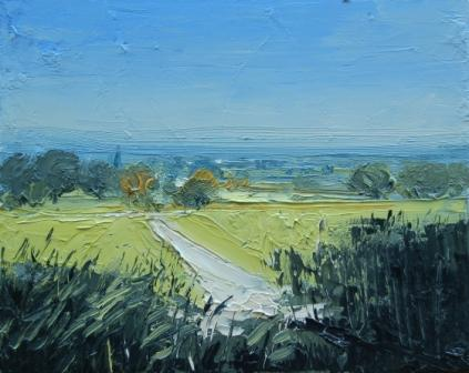 Irish Artist Colin CARRUTHERS - View Towards Mickleton