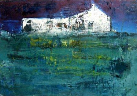Irish Artist Cormac O'LEARY - Night Storm, Sligo