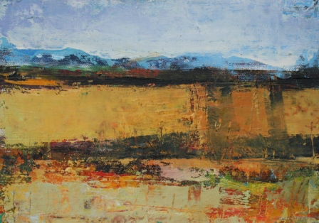 Sligo Fields painting by artist Cormac O'LEARY