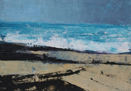 Irish Artist Cormac O'LEARY - July Storm, Streedagh
