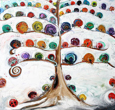Snail Tree painting by artist Dawn CROTHERS