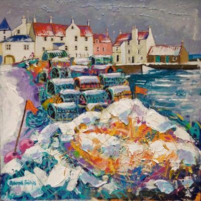 Snowy Nets and Creels, Pittenweem