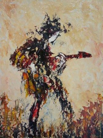 Irish Artist Fran McCANN - Guitar Man