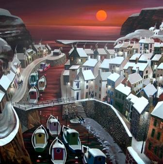 Irish Artist George CALLAGHAN - Staiths