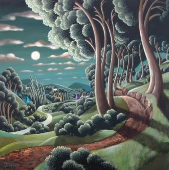 Irish Artist George CALLAGHAN - Moon River