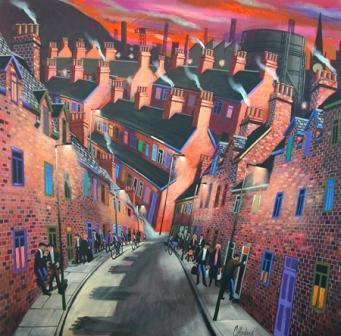 Irish Artist George CALLAGHAN - Down our Street