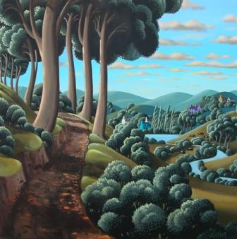 Irish Artist George CALLAGHAN - Past the Beeches