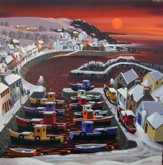 Irish Artist George CALLAGHAN - Port Patrick