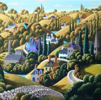 Irish Artist George CALLAGHAN - Landscape I