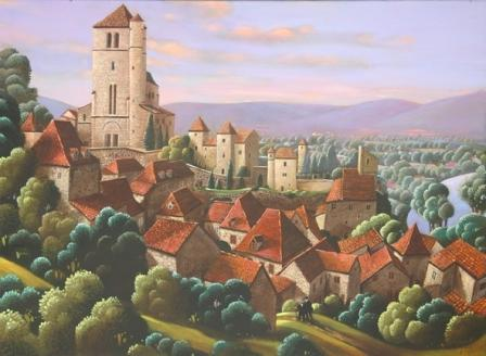 Irish Artist George CALLAGHAN - St Cirq Lapopie