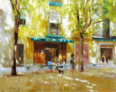 'Placa Sant Augusti Vell, Barcelona' painting