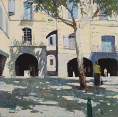 'Medieval Square, Uzes' painting