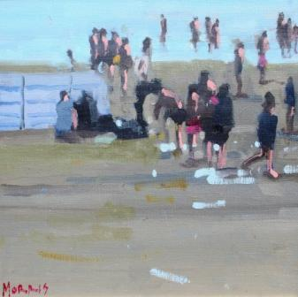 Irish Artist John MORRIS - Evening Inch Beach