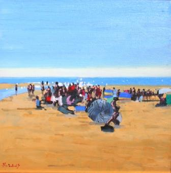 On Ballybunion Beach painting by artist John MORRIS
