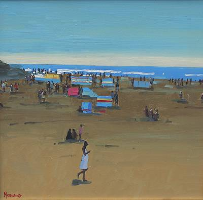 Summer Ballybunion painting by artist John MORRIS