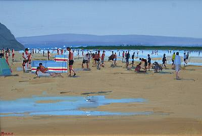Irish Artist John MORRIS - Ballybunion Beach