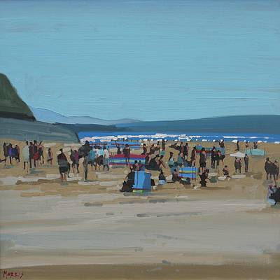 Irish Artist John MORRIS - August, Ballybunion Beach