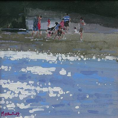 Irish Artist John MORRIS - Summers Beach, Killiney Beach