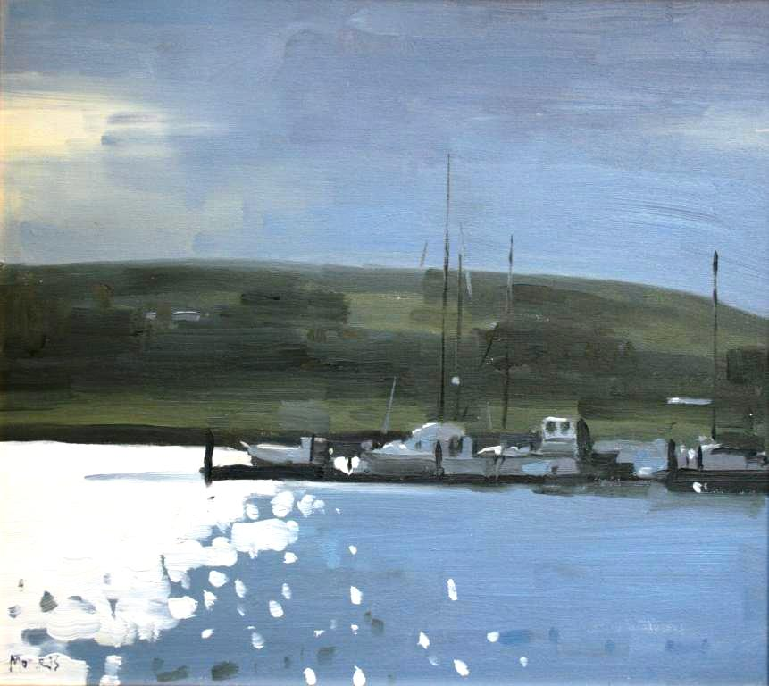 Irish Artist John MORRIS - Evening Light Dingle, Harbour County Kerry