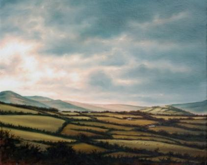 Retreating to the Valley painting by artist Laurence O'TOOLE