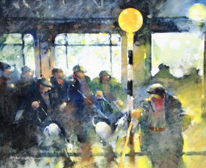 Irish Artist Lawrie WILLIAMSON - Outside the Wellington