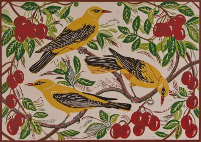 Golden Orioles and Plums