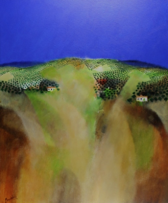 Irish Artist Manus WALSH - Cortijos Among the Olives