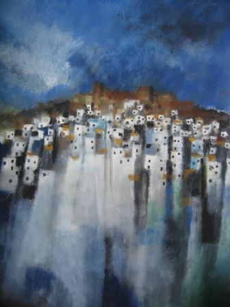 Irish Artist Manus WALSH - Beneath the Alcazaba,Andalucia
