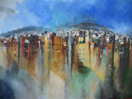 Irish Artist Manus WALSH - Steps and Stairs of Valparaiso