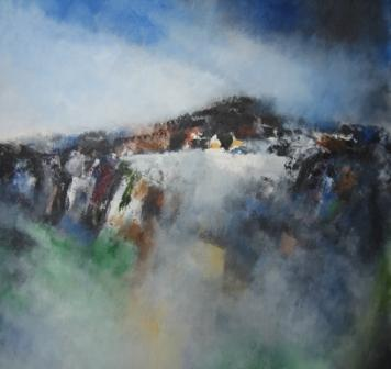 Irish Artist Manus WALSH - Black Hill, Winter Pool