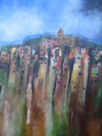 Irish Artist Manus WALSH - Terraces of Valparaiso