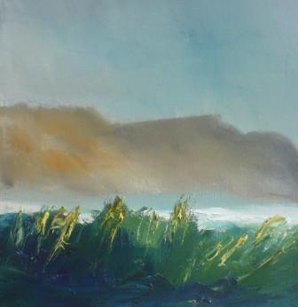 Irish Artist Padraig McCAUL - Mist On the Minaun Cliffs, Achill