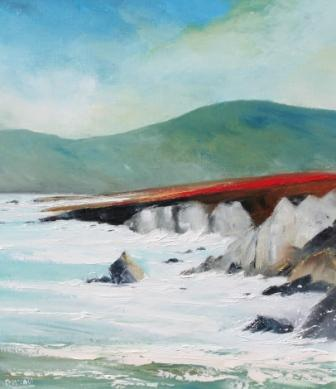 Irish Artist Padraig McCAUL - Winter Storms, Ashleam Bay