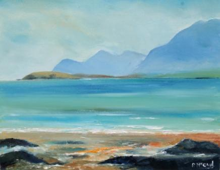 Irish Artist Padraig McCAUL - On Keel Beach