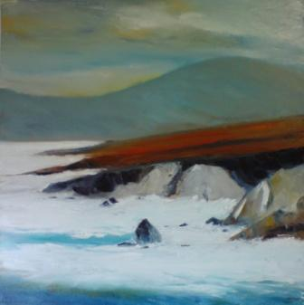 Irish Artist Padraig McCAUL - Atlantic Drive Storms,  Achill