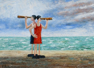 'The Lifeguards' painting